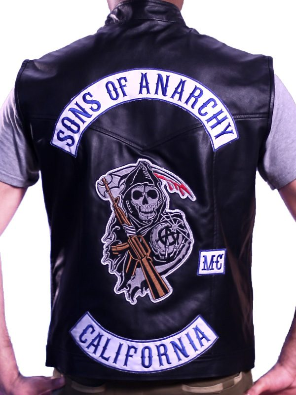 Sons Of Anarchy Style Vest Leather Jax Teller
