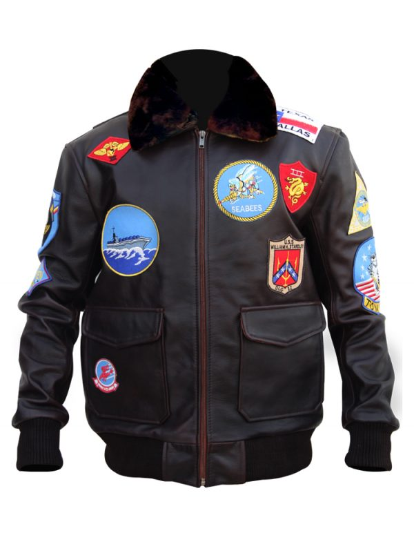 Tom Cruise Top Gun Jacket Leather