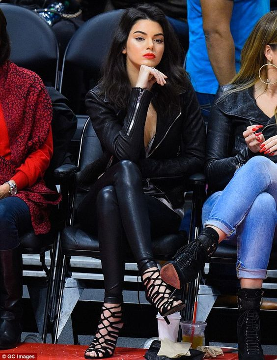 Kendall Jenner Moto Jacket Leather