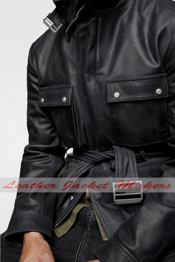 Classic Winter Leather Jacket Mens