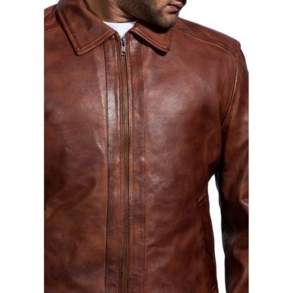 John Wick Brown Leather Jacket Keanu Reeves