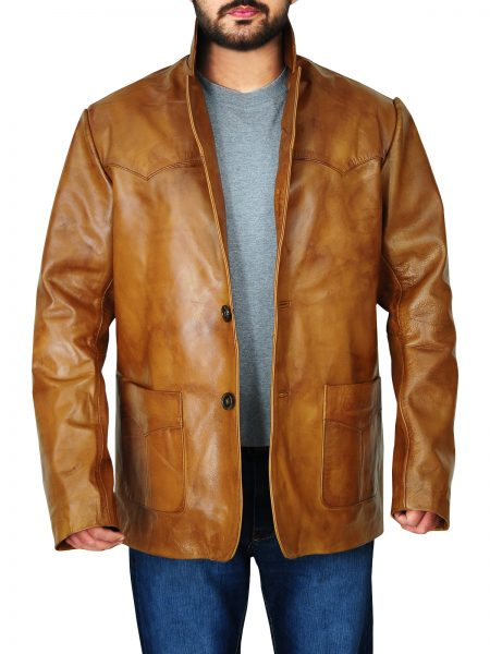 Leonardo DiCaprio Rick Dalton Leather Jacket Once Upon a Time in Hollywood