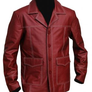 Tyler Durden Jacket red leather coat