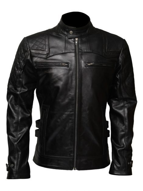 mens affliction leather jacket