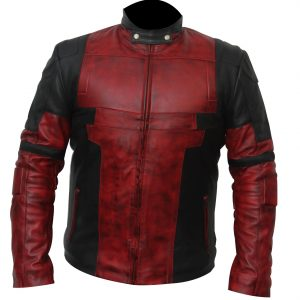 deadpool leather jacket motorcycle biker