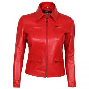 emma swan red jacket leather