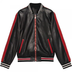 mens bomber style leather jacket