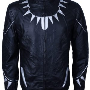 marvel black panther leather jacket outfit cosplay costume