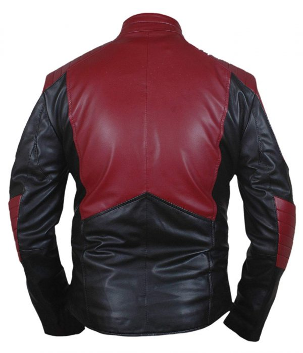 superman smallville red leather jacket black