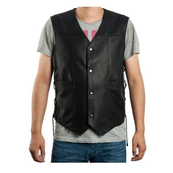 angel wings vest leather the walking dead governor