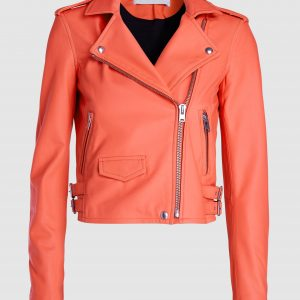 IRO inspired womens red leather jacket