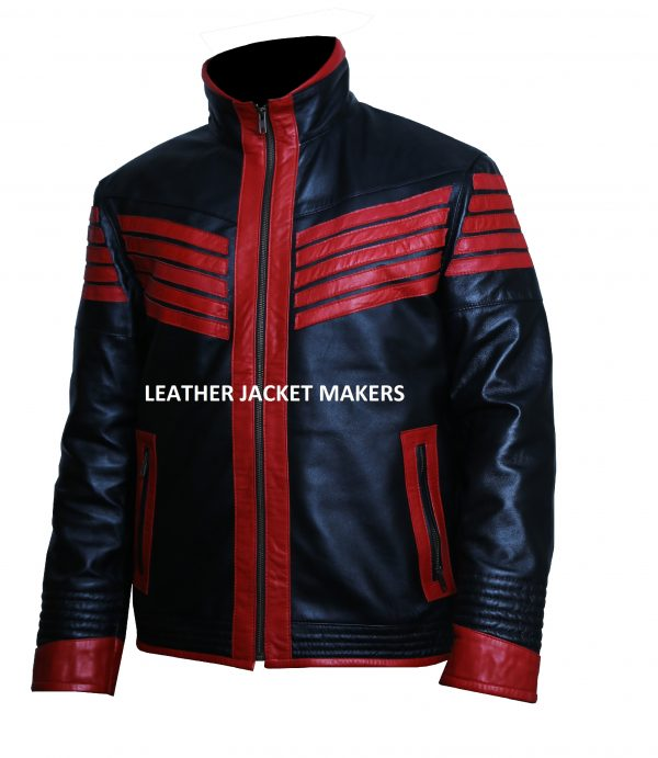 stylish cafe racer biker leather jacket