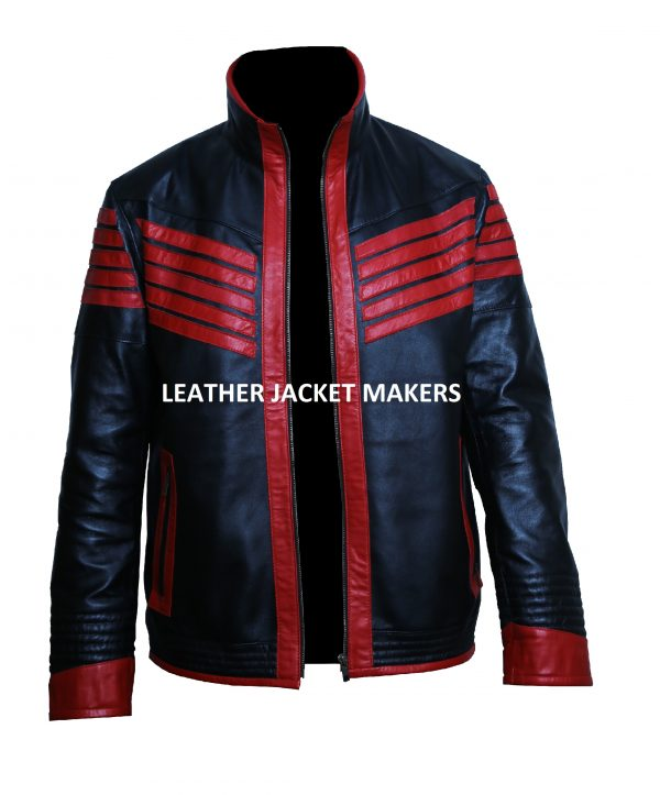 halloween red leather jacket
