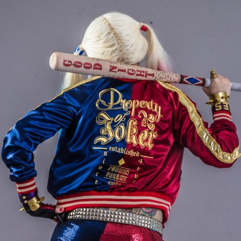 Harley Quinn Jacket Bomber Costume For Cosplay