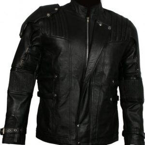 star lord black leather jacket