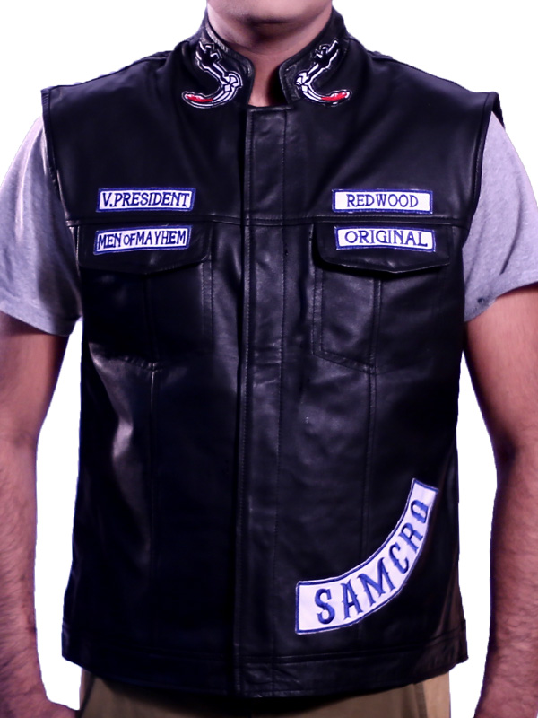 Jax Teller Vest Leather Sons Of Anarchy Motorcycle Vest For Sale
