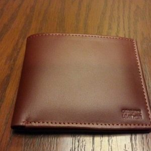 mens brown leather wallet with coin pocket