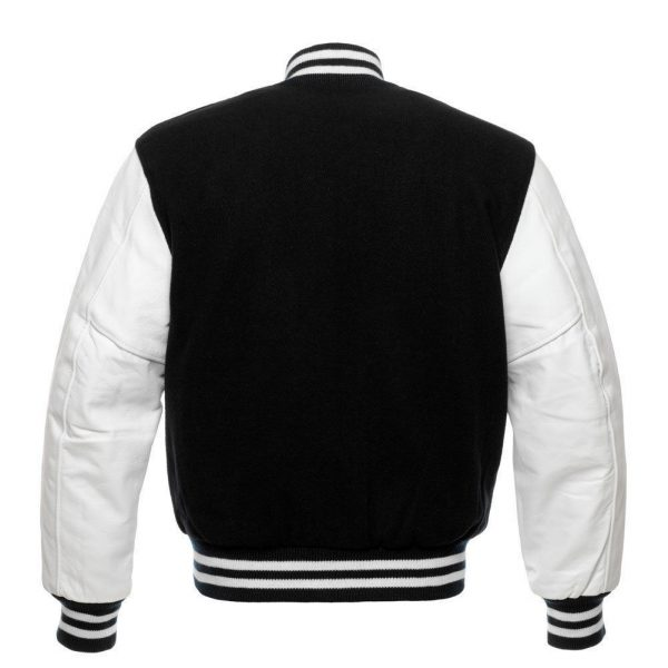 Varsity Black And White Letterman Jacket