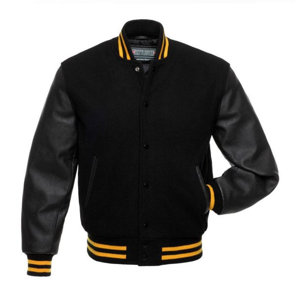 Black On Black Varsity Jacket