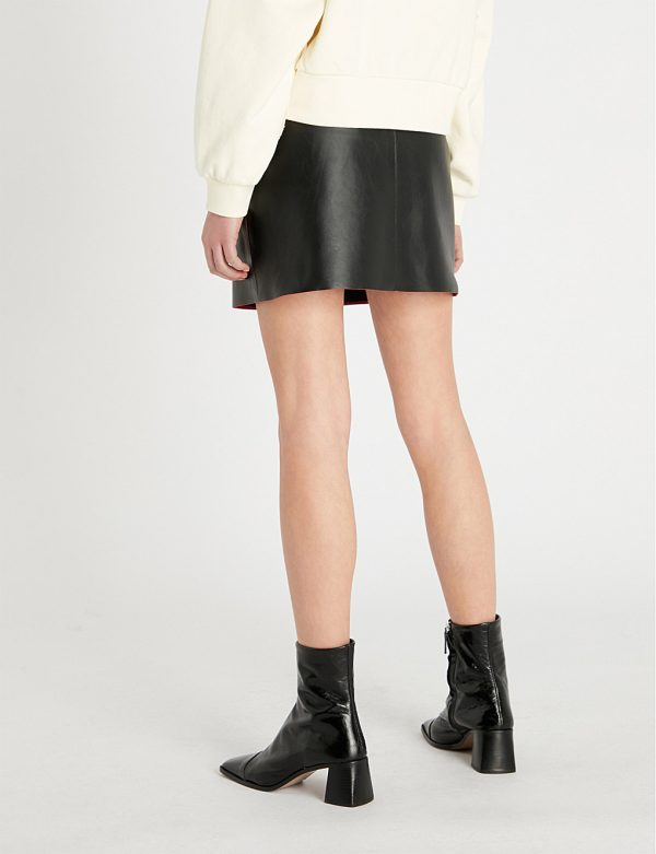 genuine leather pencil skirt