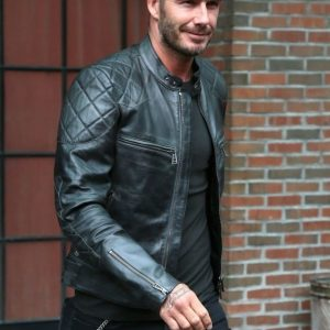 David Beckham Leather Motorcycle Jacket