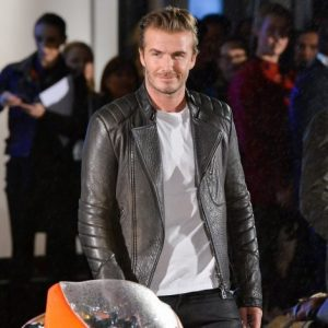David Beckham Style Leather Jacket