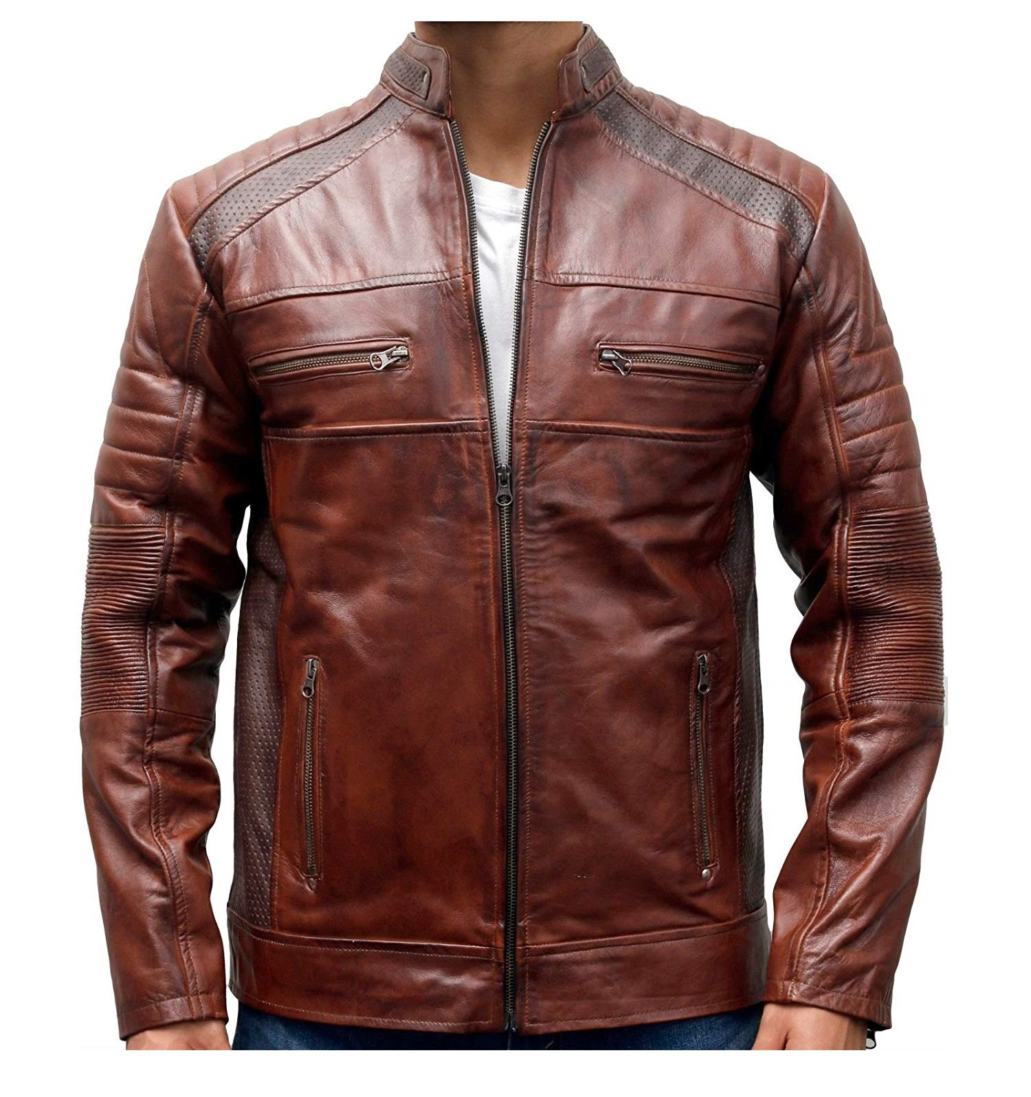Sale women clearance brown vintage men leather for jackets street