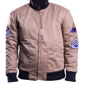 Brad Pitt Fury`Jacket cotton bomber