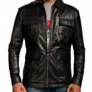 vampire diaries damon salvatore leather jacket black