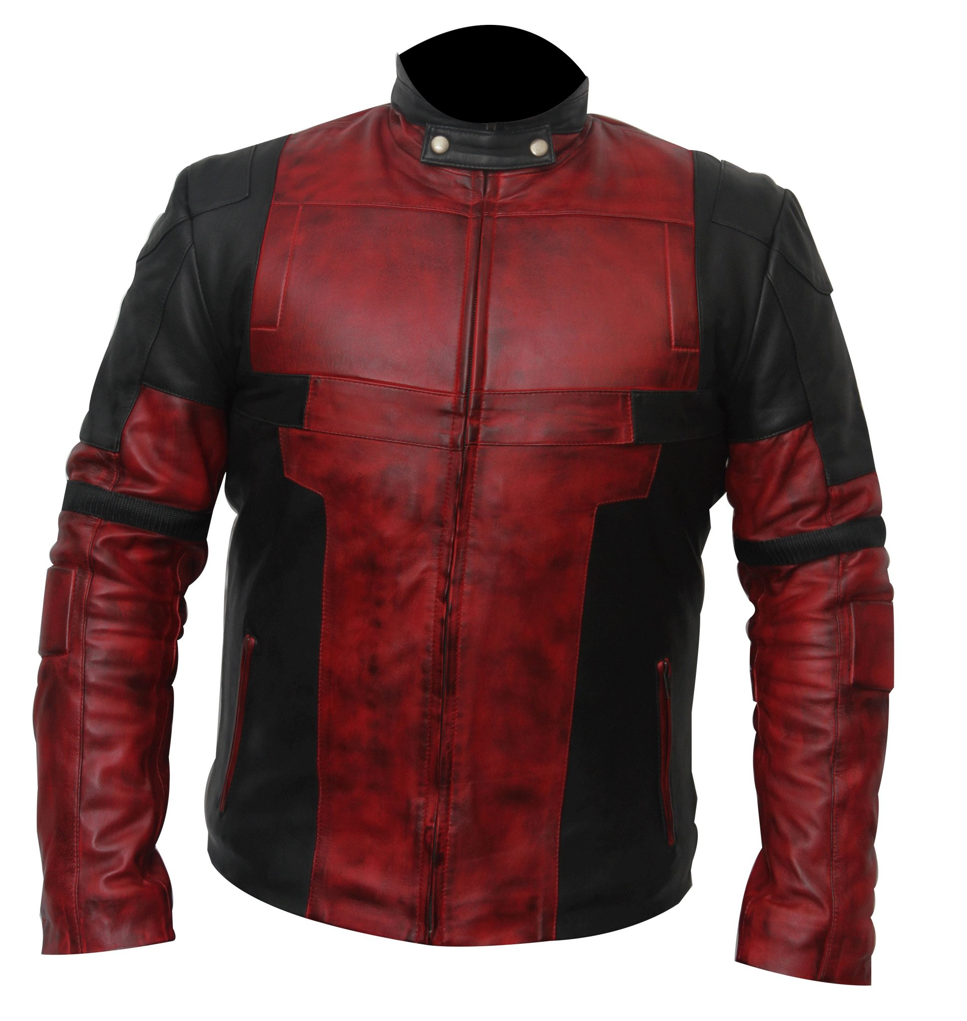 3e04dccd0 Men's Deadpool Leather Motorcycle Jacket For Bikers