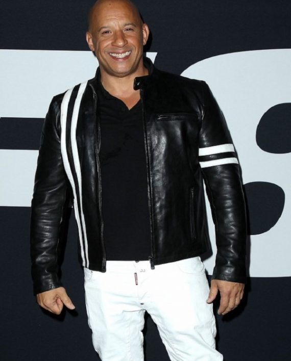 vin diesel leather jacket fast and furious premiere