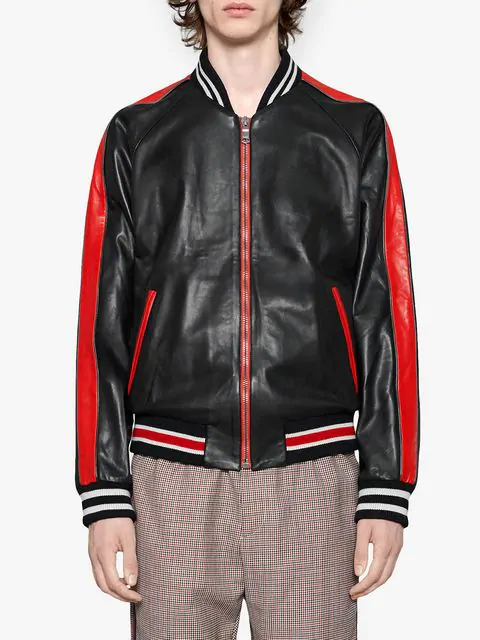gucci leather bomber jacket for sale