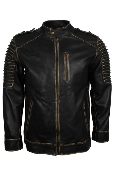 halloween style mens motorcycle leather jacket