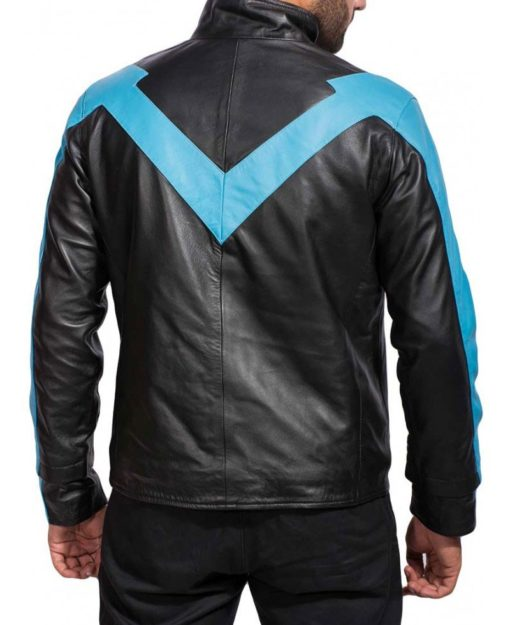 nightwing leather jacket motorcycle