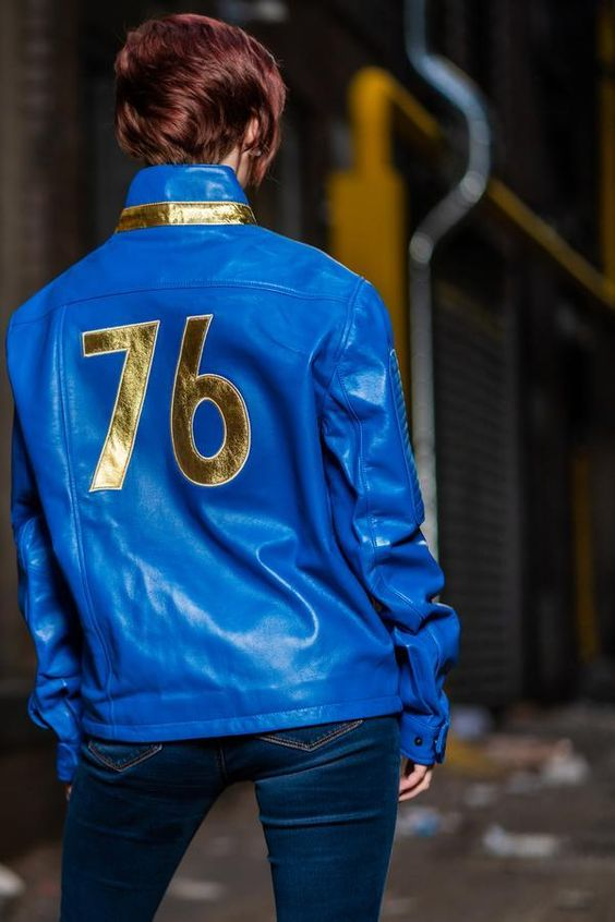 women's fallout 76 leather jacket