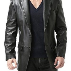 Mens Leather Sport Coat Blazer