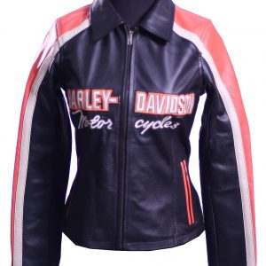 Womens Harley Davidson Leather Riding Jacket