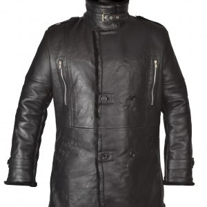 Bane Coat Black Real Leather