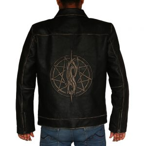 Men's Single Eye David Star Leather Jacket