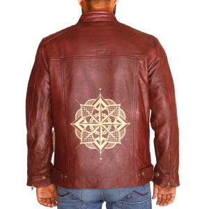 Men's Superior Screen printing Leather Jacket
